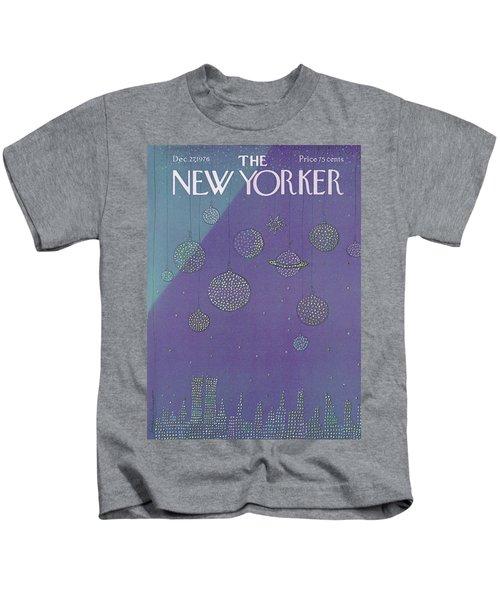 New Yorker December 27th, 1976 Kids T-Shirt