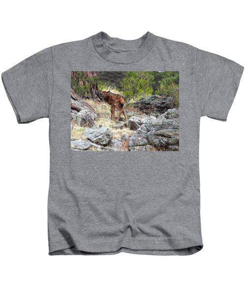 Newborn Elk Calf Kids T-Shirt