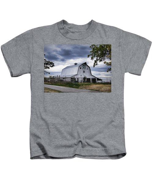 Nine Patch Quilt Barn Kids T-Shirt