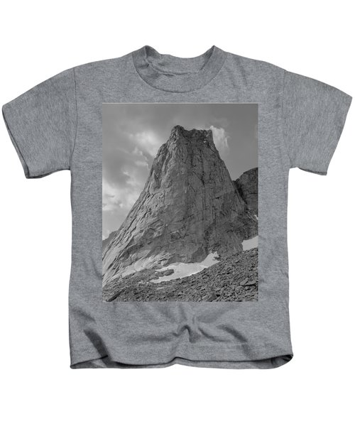 109649-bw-north Face Pingora Peak, Wind Rivers Kids T-Shirt