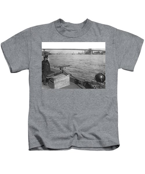 Nyc Prohibition Police Boat Kids T-Shirt