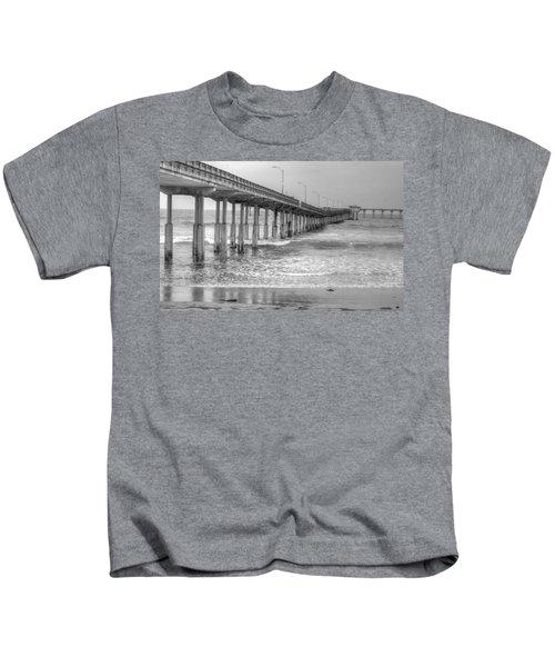 Ocean Beach Pier Kids T-Shirt