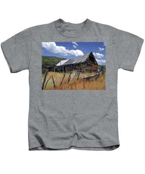 Old Barn Las Trampas New Mexico Kids T-Shirt