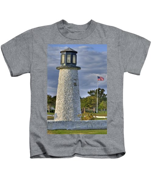 Old Buckroe Lighthouse Kids T-Shirt