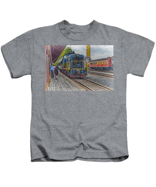 Old Town Sacramento Railroad Kids T-Shirt