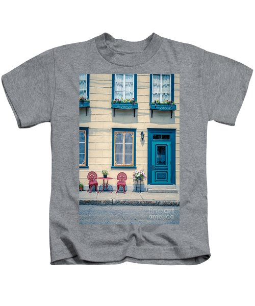 Painted Townhouse In Old Quebec City Kids T-Shirt