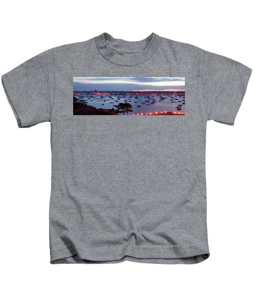 Panoramic Of The Marblehead Illumination Kids T-Shirt