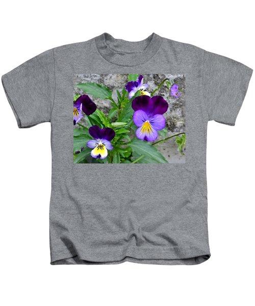 Pansies - Painterly Kids T-Shirt