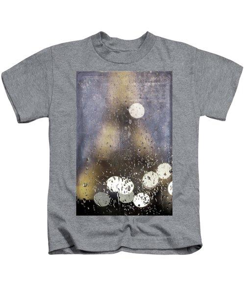 Paris In The Rain Kids T-Shirt