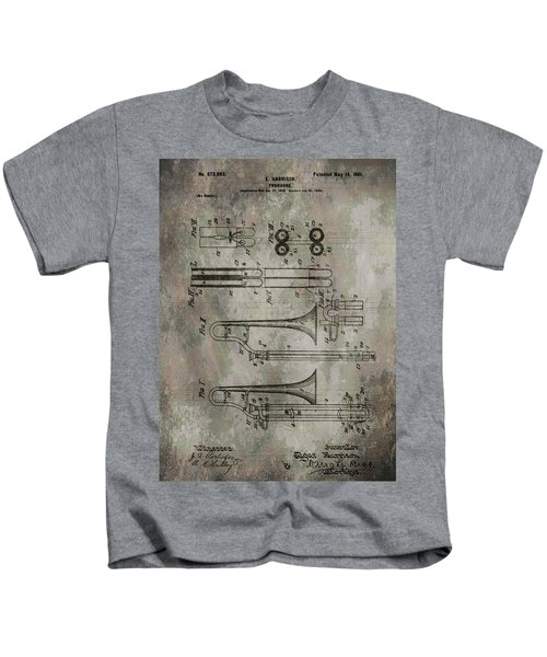 Patent Art Trombone Kids T-Shirt