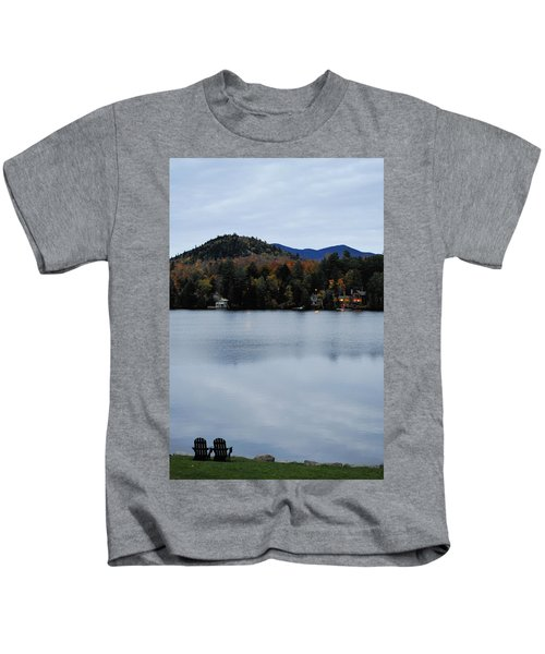 Peaceful Evening At The Lake Kids T-Shirt