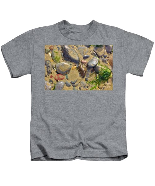 Pebbles On The Beach Kids T-Shirt