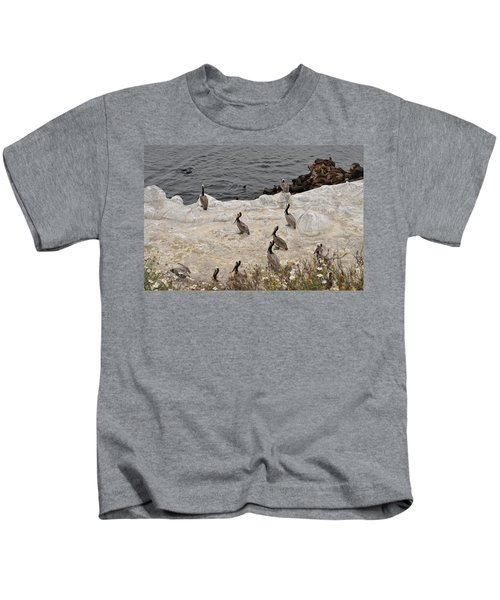 Pelicans Seals N Daisies  Kids T-Shirt