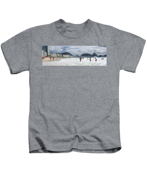 People Enjoying On Copacabana Beach Kids T-Shirt