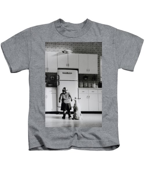 Pie In The Sky In Black And White Kids T-Shirt