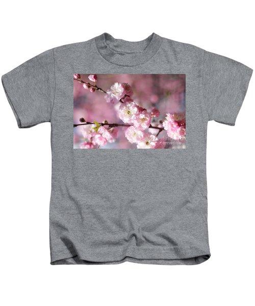 Pink Plum Branch 1 Kids T-Shirt