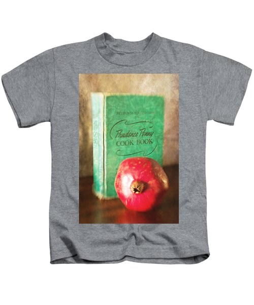 Pomegranate And Vintage Cook Book Still Life Kids T-Shirt