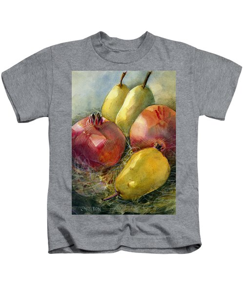 Pomegranates And Pears Kids T-Shirt