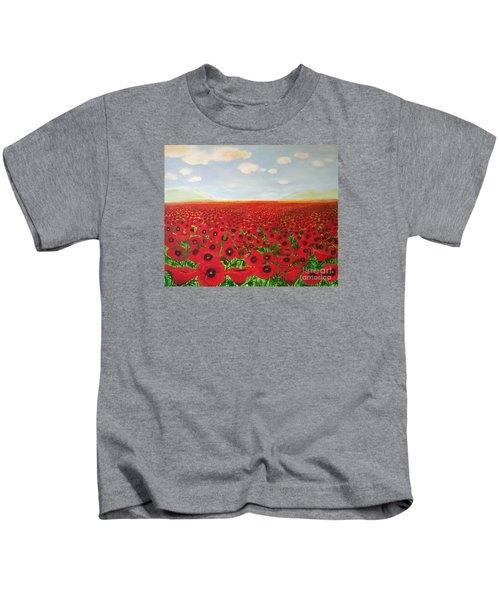 Poppy Fields Kids T-Shirt