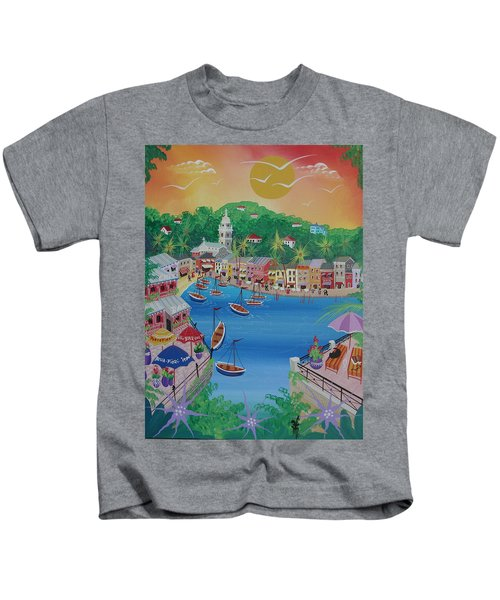 Portofino, Italy, 2012 Acrylic On Canvas Kids T-Shirt