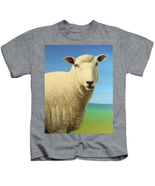 Portrait Of A Sheep Kids T-Shirt