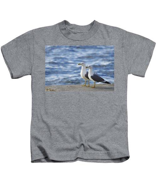 Posing Seagulls Kids T-Shirt