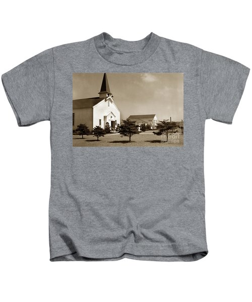 Post Chapel And Red Cross Building Fort Ord Army Base California 1950 Kids T-Shirt