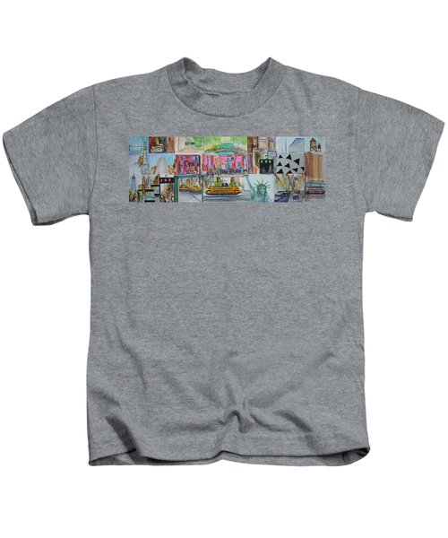 Postcards From New York City Kids T-Shirt