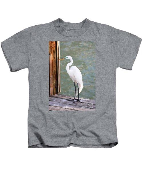 Pretty Great Egret Kids T-Shirt