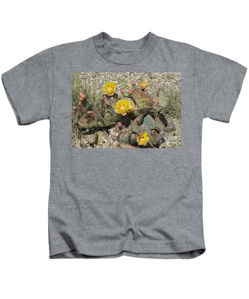 Prickly Pear Blooming In Big Bend Kids T-Shirt