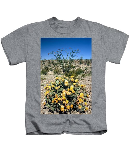 Prickly Pear Cactus Opuntia Sp Kids T-Shirt