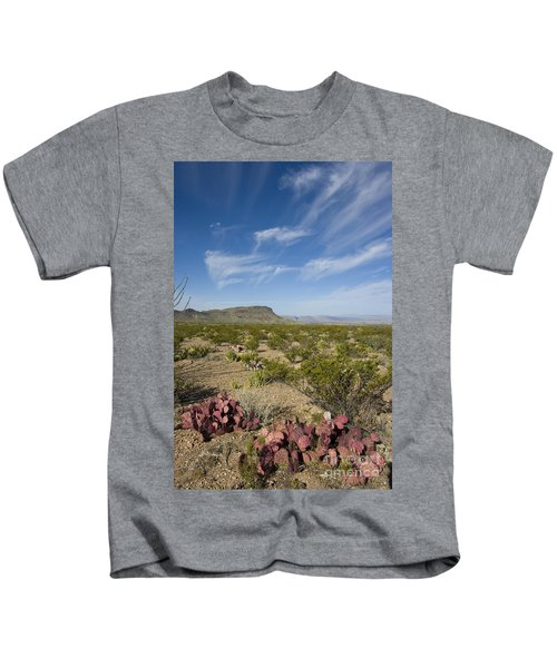 Prickly Pear In Chihuahuan Desert, Texas Kids T-Shirt