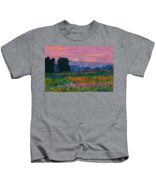 Purple Sunset On The Blue Ridge Kids T-Shirt