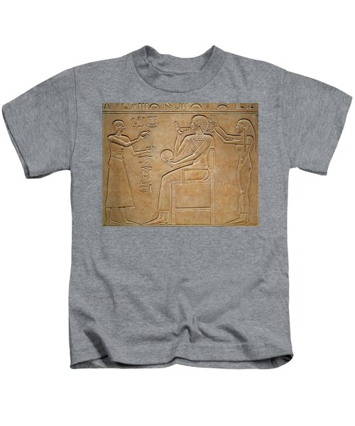Queen Kawit At Her Toilet, From The Sarcophagus Of Queen Kawit Kids T-Shirt