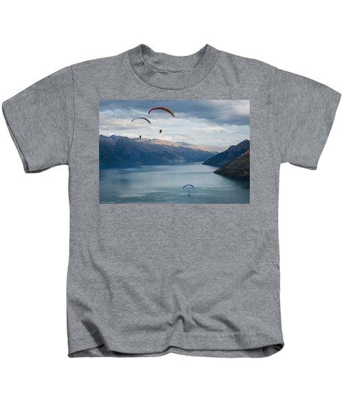 Queenstown Paragliders Kids T-Shirt