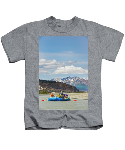 Rafters On The Alsek River Kids T-Shirt