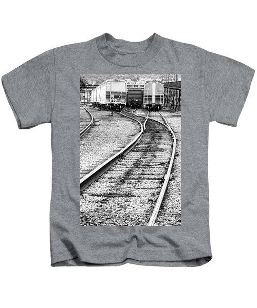 Railroad Yard Kids T-Shirt