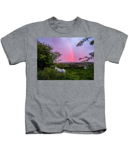 Rainbow At Sunset In County Clare Kids T-Shirt
