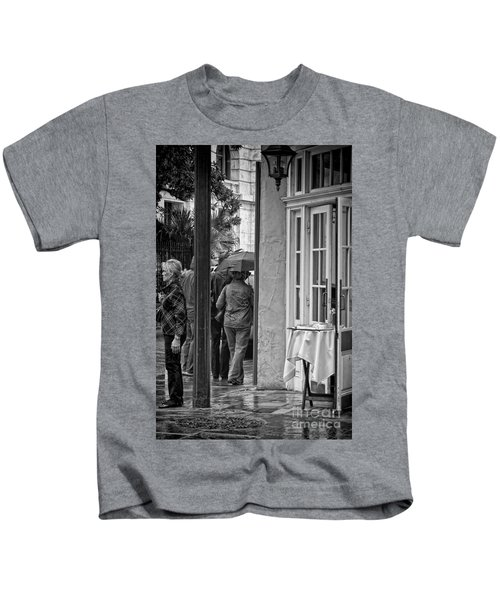 Rainy Day Lunch New Orleans Kids T-Shirt by Kathleen K Parker