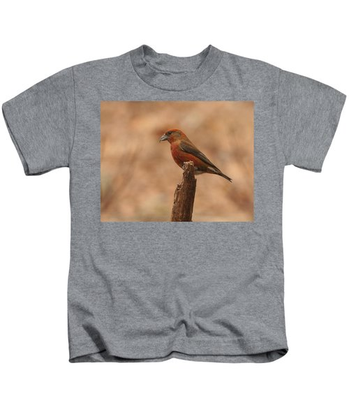 Red Crossbill Kids T-Shirt by Charles Owens