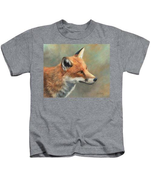 Red Fox Portrait Kids T-Shirt