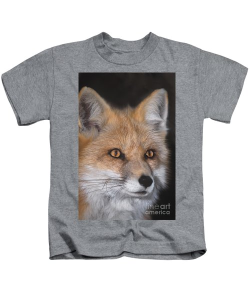 Red Fox Portrait Wildlife Rescue Kids T-Shirt