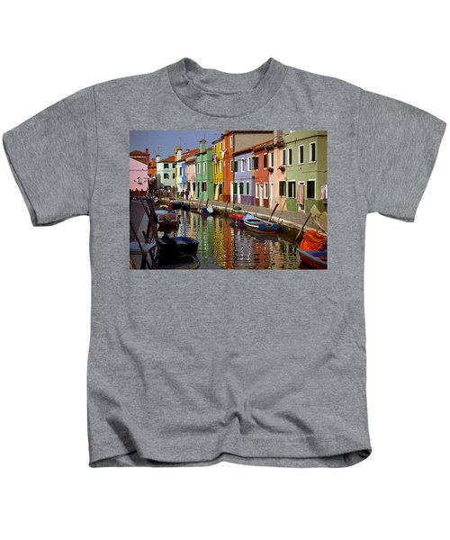 Reflections Of Burano Kids T-Shirt