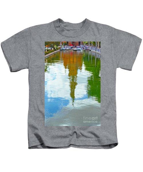 Reflections Of The Plaza De Espana  Kids T-Shirt