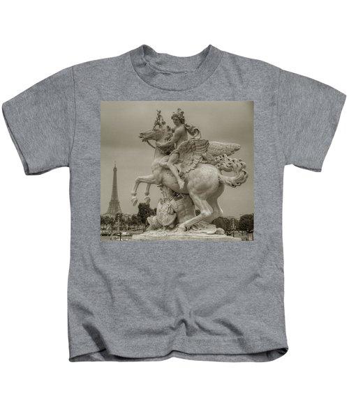 Riding Pegasis Kids T-Shirt