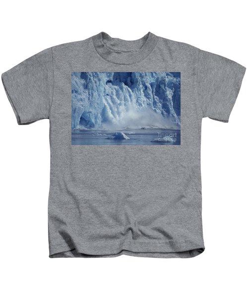 Riggs Glacier, Calving Kids T-Shirt