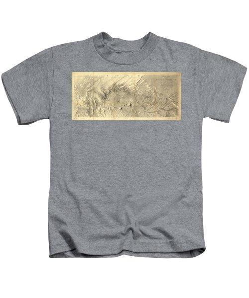Rio Colorado Of The West Antique Map - 1858 Kids T-Shirt