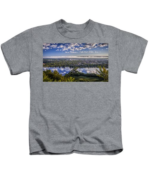 River Fog At Winona Kids T-Shirt