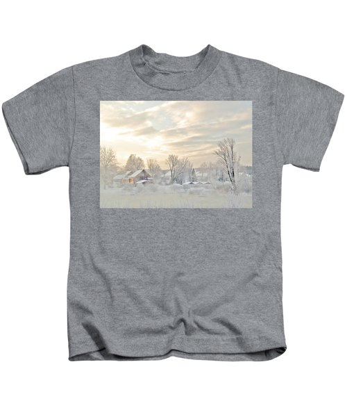 River Mist On A Very Cold New Hampshire Morning Kids T-Shirt