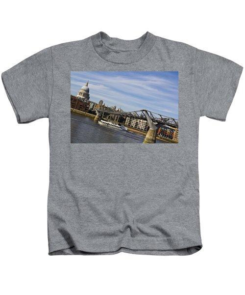 River Thames Uphill Kids T-Shirt